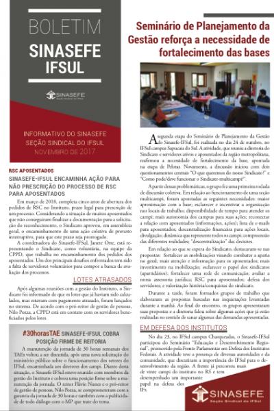 Boletim Sinasefe-IFSul | Segunda edição