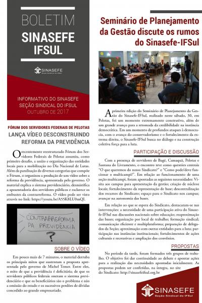 Boletim Sinasefe-IFSul | 01/2017