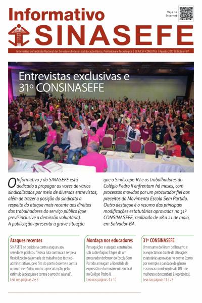 Informativo Sinasefe Nacional | Edição 07