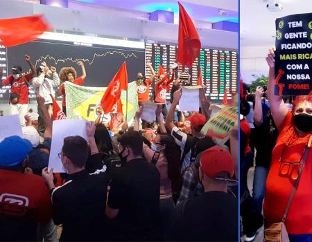 MTST e Frente Povo Sem Medo ocupam Bolsa de Valores em protesto contra a fome